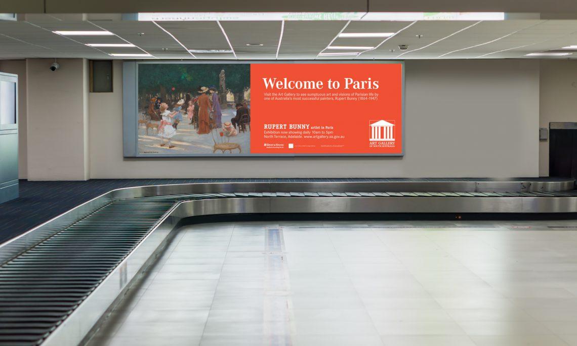 Adelaide Airport Lightbox Banner Advertising