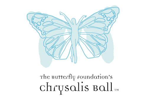 Butterfly Foundation Chrysalis Ball Visual Identity