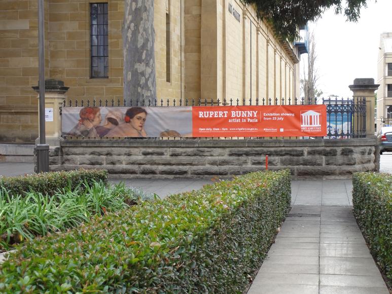 Rupert Bunny Fence Signage Banner