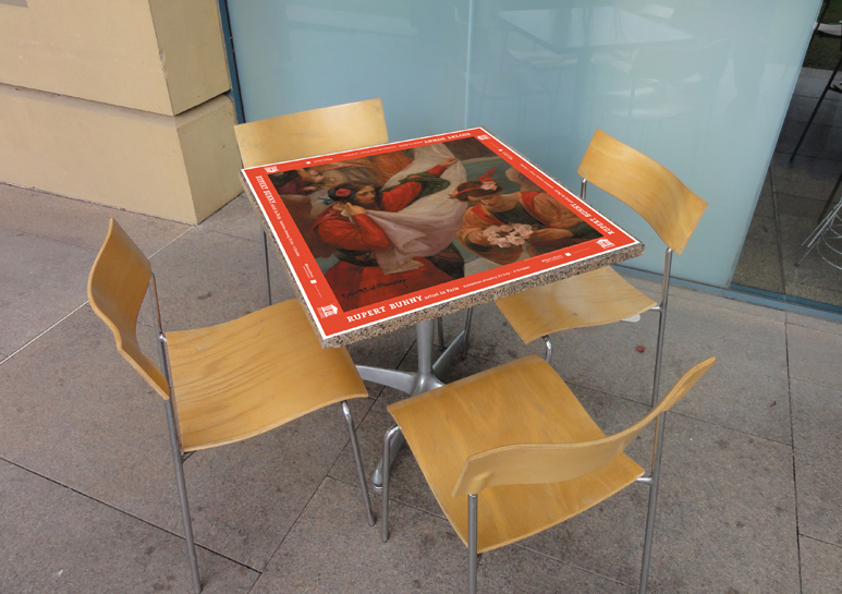 Rupert Bunny Table Cloth Advertising